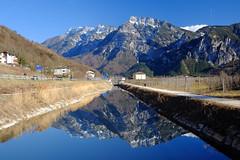 Brenta-Pizzo (Raul Montoleone) Tags: montagna fiume brenta pizzo cimavezzena levico acqua riflessi reflection river mountains prealpi water landscape paesaggio panorama