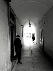 IMG_1481193843069 (Florindo Balkan) Tags: urban city contrast architecture blackandwhite wideangle noir mistery fog italy metaphysics