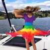 Zoe. Birthday dress. Birthday twirl... (miaow) Tags: bellalunaboat tasmania summer2017 zoe 9yo