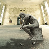 The Puzzler (Cat Girl 007) Tags: thethinker lepenseur thinker statue puzzle jigsaw thepuzzler photomanipulation photomontage fantasy room abanonedroom ponder sculpture sitting wonder conceptual creativity imagination strong man rodin augusterodin square squareformat stormthorgerson surreal