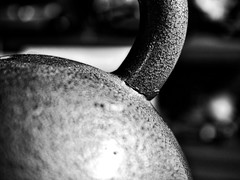 Kettlebell Handle in B&W (MarkRosauer) Tags: metal kettlebell weighttraining iron macromondays macroconverter pumpingiron 20kg