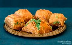 Baklava (AnnekathrinLingePhotography (sunshine-pics.com)) Tags: baklava foodphotography food turkish petrol orient oriental pastry gebäck essen orientalisch canon eos 5dmark3 5dm3 tamron 2875mm teal