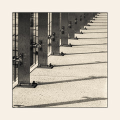 Untitled (B.M.K. Photography) Tags: street shadows ballustrade fence square framed