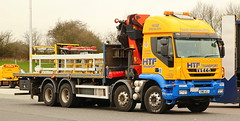 Iveco Trakker HFT Crane Hi-aB OLdaham SN61AZJ Frank Hilton IMG_5053 (Frank Hilton.) Tags: classic truck lorry eight wheel maudsley aec atkinson albion leyalnd bristol austin outside heavy haulage crane 8 axle