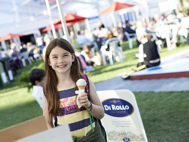 Enjoying some Di Rollo ice-cream
