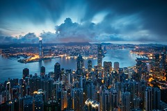 Nautical Twilight (Eddie HBH) Tags: longexposure blue hk sunrise hongkong cloudy dramaticsky