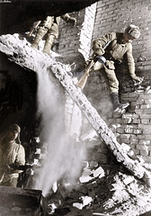 Soviet soldiers in a ruined house during the battle for Stalingrad (Za Rodinu) Tags: world 2 man men history vintage soldier war gun russia military rifle rifles front german weapon ww2 soldiers historical guns 1942 1945 rare troops 1944 1943