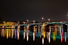 Rainbow Road (T.A.R.D.I.P.) Tags: bridge frankfurt brücke atnight hdr frankfurtammain bridgeatnight ignatzbubisbrücke