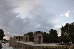 debod2 (al perez / leo.jinlaohu) Tags: madrid park parque sunset sky espaa cloud lake reflection lago temple pond reflected cielo reflejo estanque puestadesol bluehour ocaso nube templo magichour reflexin  debod                  horamgica    horaazul