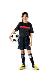 Soccer (Patrick Foto ;)) Tags: portrait people white game cute girl beautiful smile childhood sport female standing ball studio asian fun thailand happy person one football kid healthy holding education child play little expression background soccer joy daughter young lifestyle happiness player health thai concept copyspace activity joyful isolated active futsal caucasian