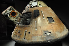 Apollo 14 - Command Module (BNSXB) Tags: usa museum dark florida space centre united 14 astronaut center musee nasa sombre american shuttle cape spaceship states titusville visitor apollo complex command kennedy espace unis module canaveral floride fusee spacial etats amerique