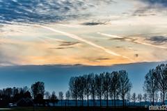 AMS Polderbaan Runway at sunset (30-10-2015)