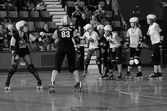 skulls_vs_scars_L1063352 1 (nocklebeast) Tags: ca usa santacruz rollerderby rollergirls skates sugarskulls groms juniorderby bumperscars santacruzderbygroms