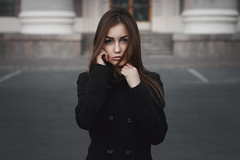 Adelia (ivankopchenov) Tags: street city autumn light portrait people cold girl weather sadness natural outdoor young