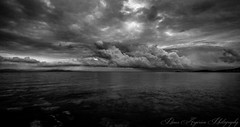 Sea (Panos Argiriou) Tags: travel sea sky blackandwhite bw nature clouds canon landscape cloudy outdoor greece blackwhitephotos