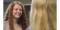 Erin Rose Morris as Erin O'Byrne - Up on High Ground (Up On High Ground) Tags: irish girl smile ginger tv feminine teeth longhair pale redhead teen curly blonde actress tvshow freckles freckled