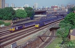47441+47425_22-5-1992 (LinesideSouthEast) Tags: railroad london train track tracks rail railway trains railways class47 brblue largelogo