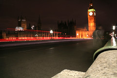 London (Patrick Lowe) Tags: longexposure london evening housesofparliament bigben lighttrails palaceofwestminster 8secondexposure