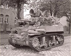 M5A1 American light tank ,equipped with loud-speaking installation