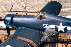 Vought F4U Corsair (Thad Zajdowicz) Tags: blue usa color history museum digital canon airplane eos 50mm star smithsonian wings fighter aircraft aviation navy cockpit indoor number 7d corsair dslr bomber propeller usn markings warplane lightroom udvarhazy f4u vought primelens zajdowicz