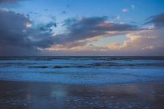 blue hour sunset (j j miller) Tags: ocean california ca sunset storm reflection beach rain clouds coast dusk lowtide cloudporn hwy1 californiacoast pomponio statebeach pomponiostatebeach