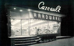 Cazeault Hardware North Weymouth Mass. Architect Bernard E Healy (JAVA1888) Tags: old building window sign architecture vintage ma design photo hardware store doors exterior display north front case historic retro 1940s 1950s storefront signage 50s weymouth 40s midcenturymodern cazeault