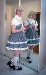 Christmas girl (blackietv) Tags: black white lolita dress gown blouse petticoat lace frilly hellbunny mirror tgirl transvestite crossdresser crossdressing transgender