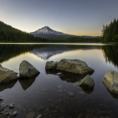 Mt Hood Trillium Lake Square (Brook Terwilliger) Tags: brookterwilliger oregon mounthood trilliumlake sunset reflection water landscape mthood
