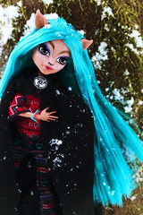 Deer Spirit  ❄️️ (Mariko&Susie) Tags: monsterhigh isi isidawndancer deer doe deerspirit nativeamerican indian howdoyouboo bluehair winter cold tree moss snow snowing merida cape disneystore outdoor toy toys doll dolls canoneos600d canoneosrebelt3i canoneoskissx5 50mmlens marikosusie sistersmarikosusie mariko susie школамонстров モンスター・ハイ
