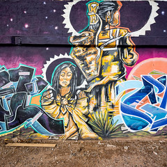 Drumbeat Indian Arts (Dennis Valente) Tags: 5dsr drumbeatindianarts art contemporaryurbanart 2016 sw southwestern hdr valleyofthesun urbanart spraypaint calle16 wallart outhwest paint arizona streetart phoenix isobracketing mural