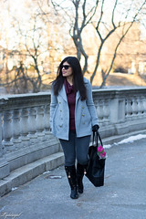 cowl neck sweater, grey jeans, pea coat, matine scalloped tote.jpg (LyddieGal) Tags: matine swap black boots denim fashion gap gloves grey jcrew outerwear outfit peacoat purple rayban scalloped style sweater thrifted wardrobe weekendstyle winter
