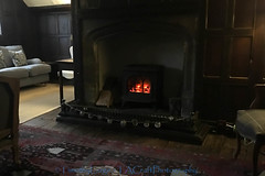 1113 of Year 3 - Traditional hotel room. (Hi, I'm Tim Large) Tags: lacock wiltshire hotel fire heat heating old traditional logs bb large bedroom thesignoftheangel iphone es warm warmth room