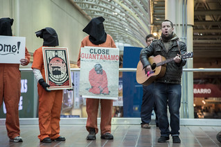 Luke Nephew Leads a Song Protesting Torture and Indefinite Detention