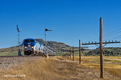 Eastbound at Wagon Mound (Colorado & Southern) Tags: amtrak gep42dc thesouthwestchief passenger passengercars trains train railfanning semaphores semaphoresignal bnsfraton bnsfsratonsubdivision newmexico newmexicorailroads newmexicotrain newmexicotrains