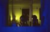 analógicamente la misma (☾arimelo) Tags: film selfie autoretrato bath baño home casa minolta srt101 blue yellow analogue azul cotidiano anochecer verano mirror espejo momento locura