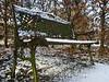 Parkbank am Wegesrand (doeffi) Tags: schnee winter parkbank sonnig snow outdoor spaziergang