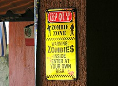 Zombie Zone (knightbefore_99) Tags: salvador restaurant rincon guayabitos nayarit mexico mexican beach west coast zombie zone sign cool playa awesome art