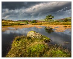 Kelly Hall Tarn (mistymornings99) Tags: sky boulder time kellyhalltarn landscape photostyles uk places