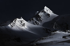 Lux Abyssi (DBPhotographe) Tags: moon full night long exposure mountain winter snow french alps mood dark vars cold ice strange weird landscape trek nature outdoor