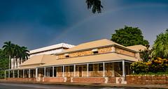Darwin's old courthouse (NettyA) Tags: 2016 australia darwin nt northernterritory wetseason rainbow city buildings administratorsoffice old historic stone courthouse policestation supremecourt