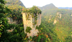 Fistfulll of Pillars - Vol.2 (Eye of Brice Retailleau) Tags: outdoor panorama nature landscape mountains china zhangjiajie green sunny sky trees forest avatar scenic extérieur paysage colline arbre plante cliff pillar