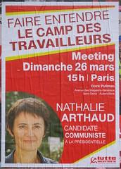 Meeting dimanche 26 mars (emmanuelsaussieraffiches) Tags: affiche politique political poster lutteouvrière