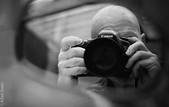 Allan jones (Allan Jones Photographer) Tags: allanjones allanjonesphotographer selfie selfportrait canon mirror reflection canon5d3 mono bw blackandwhite monochrome canonef50mmf14usm bokeh refelection