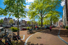 The Canals of Amsterdam (Wolfhowl) Tags: canal netherlands northsea travel city 2016 boats spring amsterdam architecture