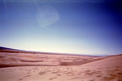 life on mars? (jhdahl29) Tags: outdoor colorado disposable camera film singleuse dunes sand sky glare landscape