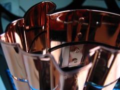 Made of Metal (Jen_Vee) Tags: macromondays metal copper bunny cookie bakeware shapes bolt rivet