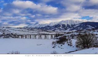 Lago di Campotosto - Rigido Inverno