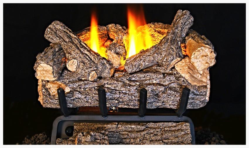 Real Fyre G-8 Unvented Valley Oak Fyre Gas Log Set