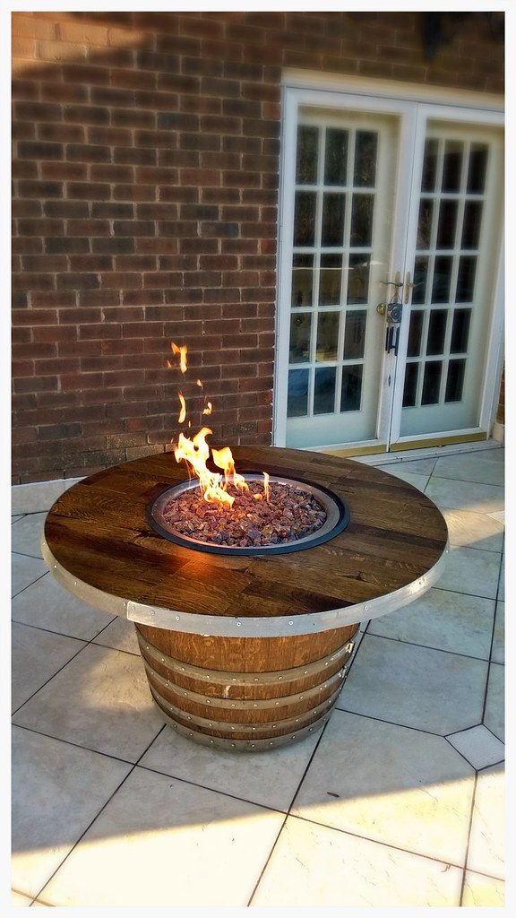 Vin de Flame Wine Barrel Fire pit. Harrison, Tn.