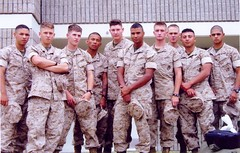 Marines bound for Iraq (rcvernors) Tags: usmc kids iraq camouflage americans soldiers brave troops veterans sons grunts devildog usmarines thefew youngmen semperfidelis marinecorp leatherneck wvresident theproud alwaysfaithful unclesamsmisguidedchildren myassridesinnavyequipment myassreallyisnavyequipment oorah rcvernors mattchilders 2ndplatoon brandonclark canebajek joshcliatt markzyntar stevencamburn rubencabellero seniormarines soniquedelacruz joshuachenault raulcardenas